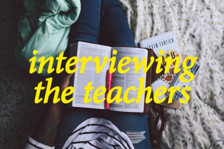 Interviewing the teachers