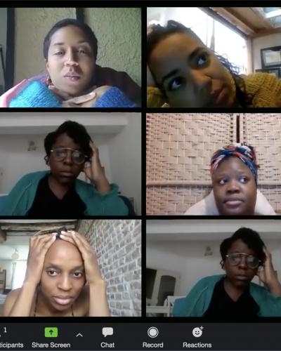 Aïcha Ouattara, Diane Ntahimpera, Anais Pinay, Leslie-Yosra Lukamba, Nour Outojane & Mujing Rukambu