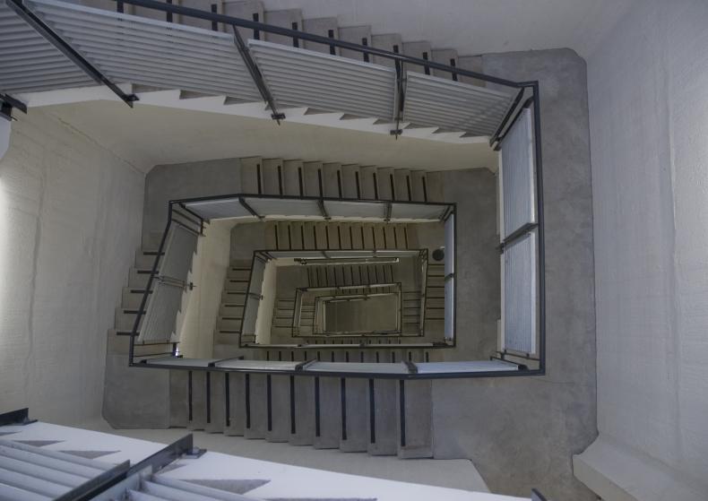 Voice ascending a staircase